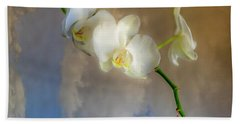 Orchid With Clouds Beach Towel