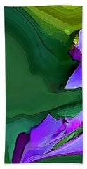 Orchids And Emeralds Beach Towel