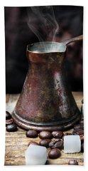 Oriental Coffee Pot Beach Sheet