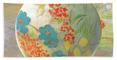 Oriental Floralscape  Beach Towel