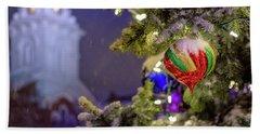 Ornament, Market Square Christmas Tree Beach Towel
