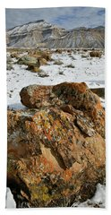Ornate Colorful Boulders In The Book Cliffs Beach Towel