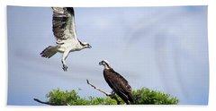 Ospreys At Blue Cypress Lake Beach Towel