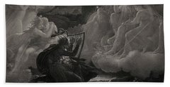 Ossian Awakening The Spirits On The Banks Of The Lora With The Sound Of His Harp, 1801 Beach Towel