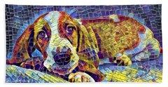 Otis The Potus Basset Hound Dog Art  Beach Towel