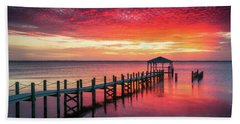 Outer Banks North Carolina Sunset Seascape Photography Duck Nc Beach Towel