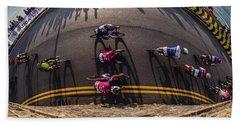 Ovo Energy Pro Cycle Race In Aberystwyth Beach Towel
