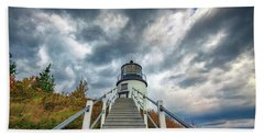 Beach Towel featuring the photograph Owls Head Lighthouse by Rick Berk
