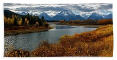 Beach Towel featuring the photograph Oxbow Bend by Scott Read