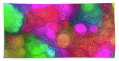 Painted Bokeh Impasto Pinkish Purple Beach Towel