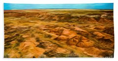 Beach Towel featuring the photograph Painted Desert Far View by Jon Burch Photography