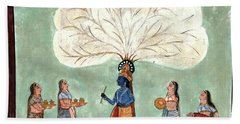Painting Fresco Of Krishna In The Women's Zenana Beach Towel