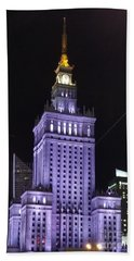 Palace  Of Culture And Science  Beach Towel