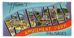 Palisades Amusement Park Greetings Beach Sheet