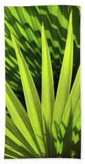 Beach Towel featuring the photograph Palm Portrait II by Leda Robertson