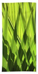 Beach Towel featuring the photograph Palm Portrait IIi by Leda Robertson