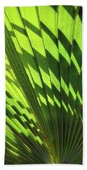 Beach Towel featuring the photograph Palm Portrait Iv by Leda Robertson