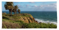 Palm Trees Blowing In The Wind Beach Towel