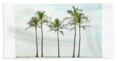 Palm Trees On The Beach Beach Towel