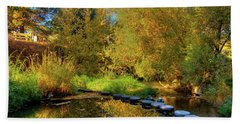 Beach Towel featuring the photograph Palouse River Reflections by David Patterson