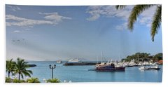 Beach Towel featuring the photograph Panama Canal Viewed From Amador Peninsula by Tatiana Travelways