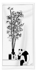 Panda Juice Beach Towel