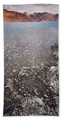 Beach Towel featuring the photograph Pangong Tso by Whitney Goodey