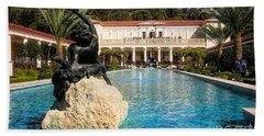 Pano View Getty Villa Awesome  Beach Towel