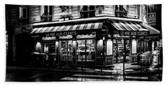 Paris At Night - Rue Bonaparte Beach Sheet