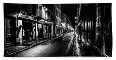 Paris At Night - Rue De Vernueuil Beach Towel