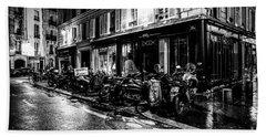 Paris At Night - Rue Jacob Beach Sheet