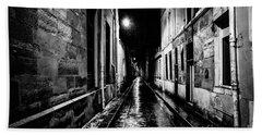 Paris At Night - Rue Visconti Beach Sheet