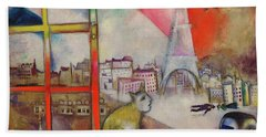 Paris Through The Window - Paris Par La Fenetre, 1913 Beach Towel