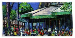 Parisian Cafe Beach Towel