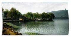 Park At Wuxi Beach Towel