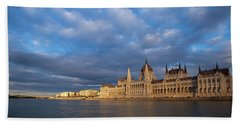 Parliament On The Danube Beach Towel