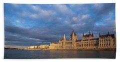 Parliament On The Danube Beach Sheet