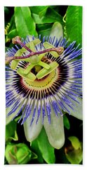 Passion Flower Bee Delight Beach Towel