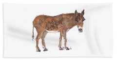 Pasture Boss 2015 Watercolor Painting By Kmcelwaine Beach Towel