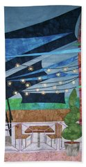 Patio At The Winds Beach Towel