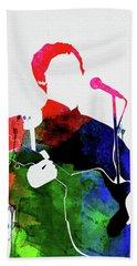 Paul Mccartney Watercolor Beach Towel