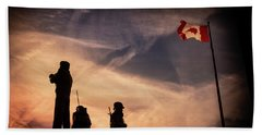Beach Towel featuring the photograph Peacekeepers by Juan Contreras