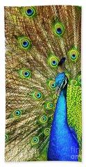 Peacock Colors Beach Towel
