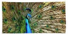 Peacock Full Bloom Beach Sheet