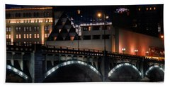 Pearl Street Bridge Grand Rapids  Beach Sheet