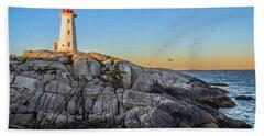 Peggys Cove Lighthouse Beach Towel
