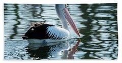 Pelican On The Lake Beach Towel