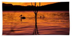 Beach Towel featuring the photograph Pelican by Rob D Imagery