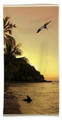 Pelican Sundown Beach Towel