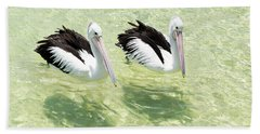 Pelicans Beach Towel